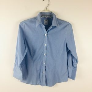 Brooks Brothers Blue Check Roll Cuff Shirt Sz 6P